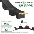 Courroie dentée simple 265-5M25