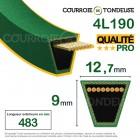 Courroie renforcée kevlar pour tondeuse 4L190 qualité pro