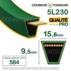Courroie renforcée kevlar pour tondeuse 5L230 qualité pro