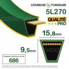 Courroie renforcée kevlar pour tondeuse 5L270 qualité pro