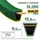 Courroie renforcée kevlar pour tondeuse 5L280 qualité pro