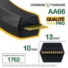Courroie de tondeuse hexagonale AA66 qualité pro