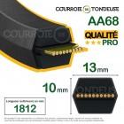 Courroie de tondeuse hexagonale AA68 qualité pro