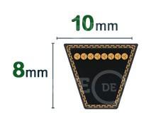 Nos modèles de Courroie tondeuse trapézoïdale 10x8