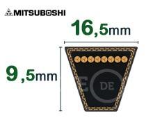 Nos modèles de Courroie tondeuse trapézoïdale 16.5x9.5